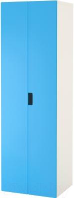 Шкаф Ikea Стува 891.338.22 (белый/синий)