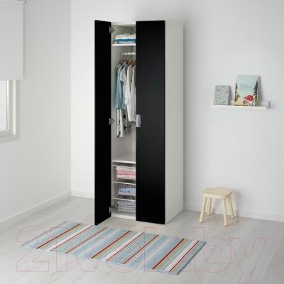 Шкаф Ikea Стува 891.339.21 (белый/черный)