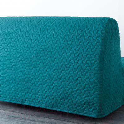 Диван-кровать Ikea Ликселе Левос 891.498.99 (Валларум бирюзовый) - вид сзади