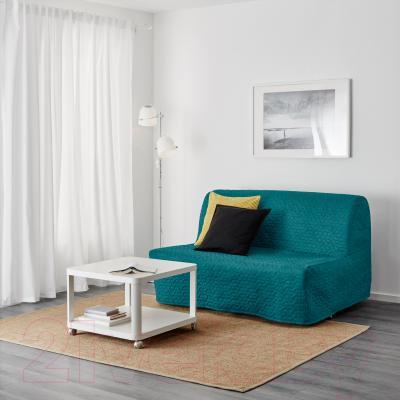Диван-кровать Ikea Ликселе Ховет 891.499.22 (Валларум бирюзовый) - в интерьере