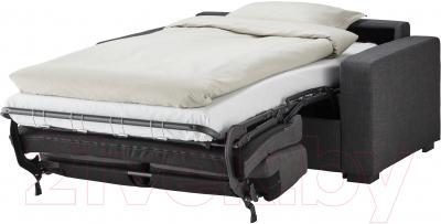 Диван-кровать Ikea Клагсторп/Лэннэс 891.670.01 (темно-серый) - в разложенном виде