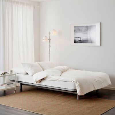 Диван-кровать Ikea Бединге/Алмос 891.710.84 (Книса бирюзовый) - в разложенном виде