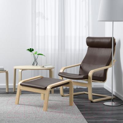 Кресло Ikea Поэнг 898.291.19 (березовый шпон/темно-коричневый)