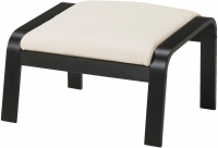 Банкетка Ikea Поэнг 898.305.42 (черно-коричневый/светло-бежевый) -
