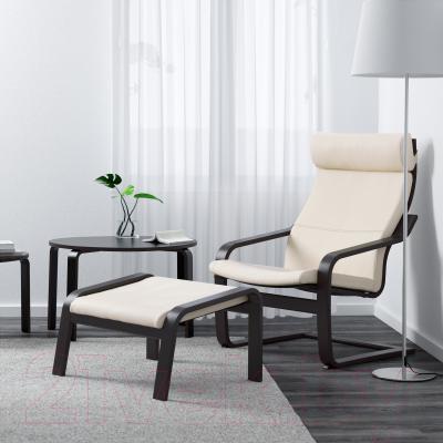 Банкетка Ikea Поэнг 898.305.42 (черно-коричневый/светло-бежевый)
