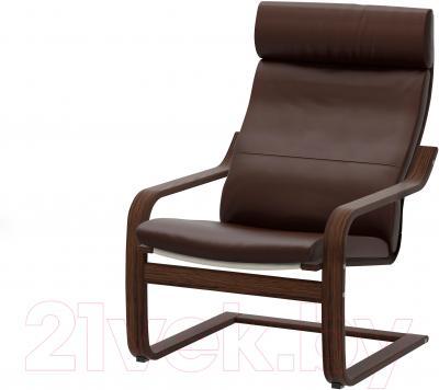Кресло Ikea Поэнг 898.607.65 (коричневый/темно-коричневый)