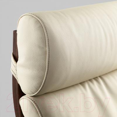 Кресло Ikea Поэнг 898.607.70 (коричневый/светло-бежевый)