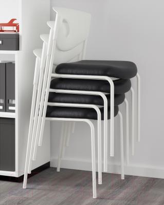 Стул офисный Ikea Стольян 899.074.52 (черный) - стулья штабелируются