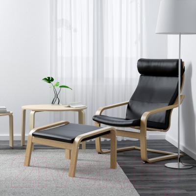 Банкетка Ikea Поэнг 298.111.17 (дубовый шпон/черный)