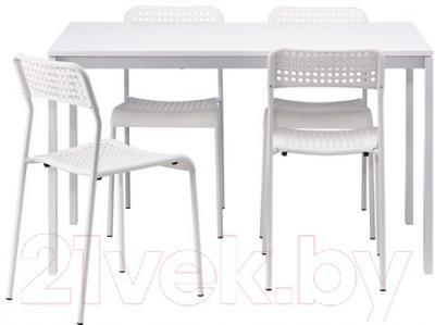 Обеденная группа Ikea Мельторп / Адде 990.143.76 (белый)