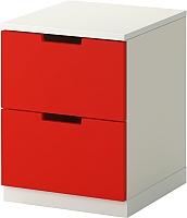 Прикроватная тумба Ikea Нордли 990.272.32 (красный/белый) -