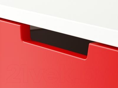 Прикроватная тумба Ikea Нордли 990.272.32 (красный/белый)