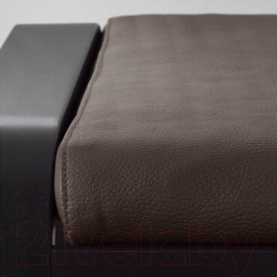 Банкетка Ikea Поэнг 298.291.17 (черно-коричневый/темно-коричн.)