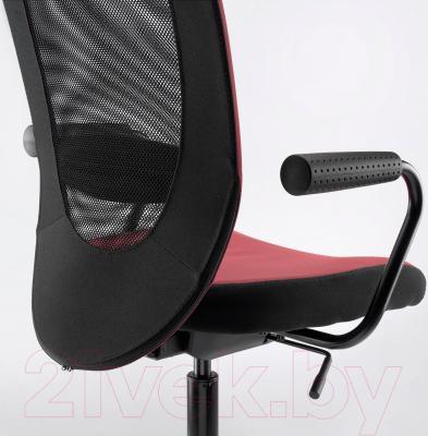 Кресло офисное Ikea Флинтан/Номинель 991.224.51 (темно-розовый) - вид сзади