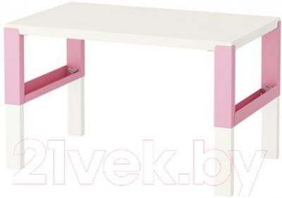 Письменный стол Ikea Поль 991.289.43 (белый/розовый)