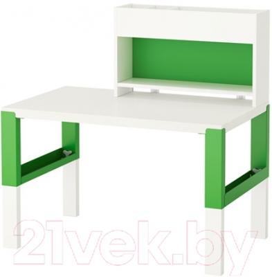 Письменный стол Ikea Поль 991.289.57 (белый/зеленый)