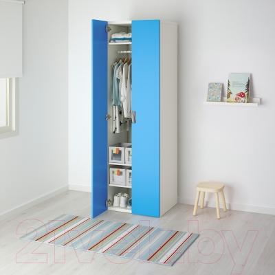 Шкаф Ikea Стува 991.336.66 (белый/синий)