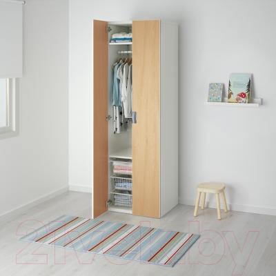 Шкаф Ikea Стува 991.339.25 (белый/береза)