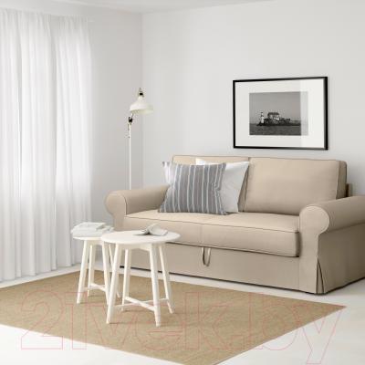 Диван-кровать Ikea Баккабру 991.341.09 (Хильте бежевый) - в интерьере