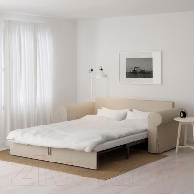 Диван-кровать Ikea Баккабру 991.341.09 (Хильте бежевый) - в разложенном виде