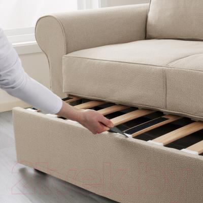 Диван-кровать Ikea Баккабру 991.341.09 (Хильте бежевый) - в процессе раскладки