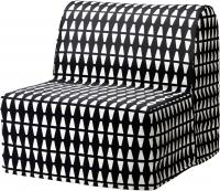 Кресло-кровать Ikea Ликселе Левос 991.341.52 (Эббарп черный/белый) -