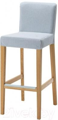 Стул Ikea Хенриксдаль 991.623.43 (дуб/синий/белый)