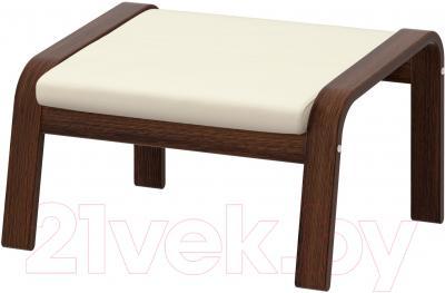 Банкетка Ikea Поэнг 298.604.76 (коричневый/светло-бежевый)
