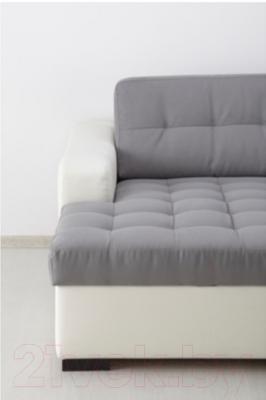 Угловой диван-кровать Ikea Лиарум/Ласеле 991.720.64 (серый/белый)