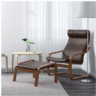 Банкетка Ikea Поэнг 998.291.14 (коричневый/темно-коричневый) - В интерьере