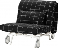 Кресло-кровать Ikea Икеа/Пс Левос 998.743.85 (Руте черный) -