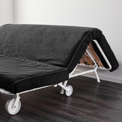 Диван-кровать Ikea Икеа/Пс Левос 998.743.90 (черный) - в процессе раскладки