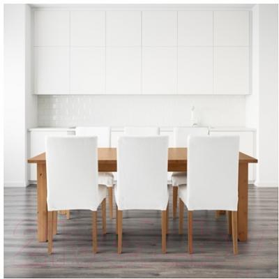 Обеденная группа Ikea Стурнэс / Хенриксдаль 998.856.47 (морилка антик/белый)