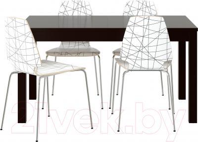 Обеденная группа Ikea Бьюрста / Вильмар 999.153.62 (коричнево-черный/черная полоска)