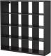 Стеллаж Ikea Каллакс 102.758.62 (черно-коричневый) -