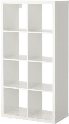 Стеллаж Ikea Каллакс 103.057.41 (белый глянцевый)