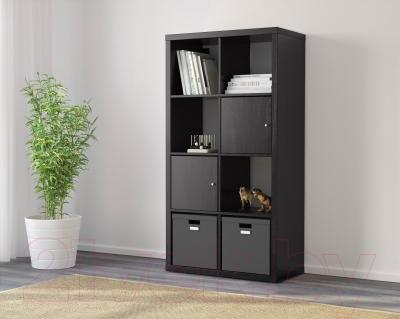 Стеллаж Ikea Каллакс 202.758.85 (черно-коричневый)