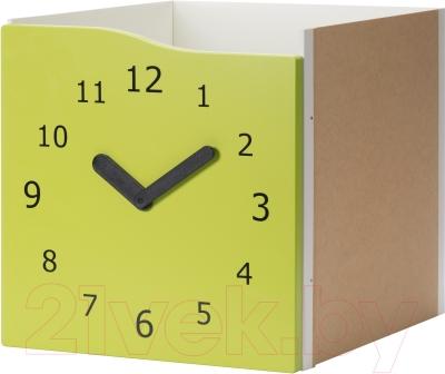 Элемент системы хранения Ikea Каллакс 303.058.20 (светло-зеленый/часы декоративные)