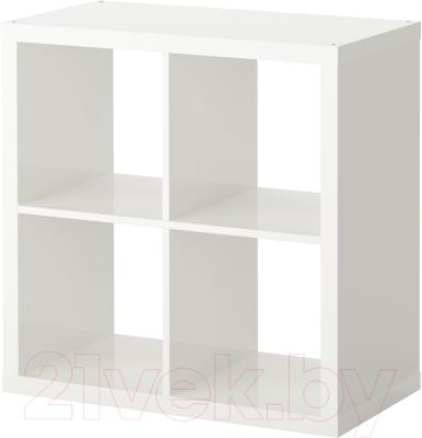 Стеллаж Ikea Каллакс 503.057.39 (белый глянцевый)