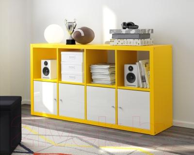 Стеллаж Ikea Каллакс 503.233.85 (желтый)