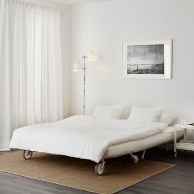 Диван-кровать Ikea Икеа/Пс Ховет 298.744.78 (красный) - в разложенном виде