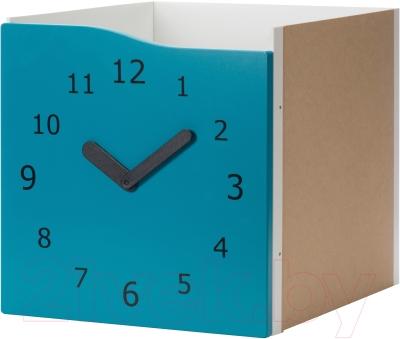 Элемент системы хранения Ikea Каллакс 703.058.23 (бирюзовый/часы декоративные)