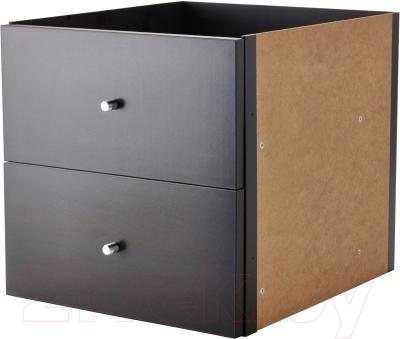 Элемент системы хранения Ikea Каллакс 902.866.49 (черно-коричневый)