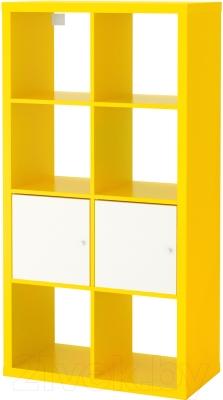 Стеллаж Ikea Каллакс 091.555.06 (желтый/белый)
