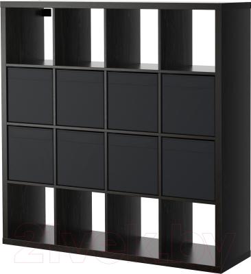 Стеллаж Ikea Каллакс / Дрёна 190.305.92 (черно-коричневый)