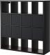 Стеллаж Ikea Каллакс / Дрёна 190.305.92 (черно-коричневый) -