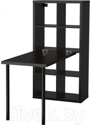 Письменный стол Ikea Каллакс 291.230.72 (черно-коричневый)