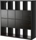 Стеллаж Ikea Каллакс 390.174.72 (черно-коричневый) -