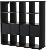 Стеллаж Ikea Каллакс / Дрёна 390.305.91 (черно-коричневый) -