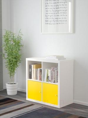 Стеллаж Ikea Каллакс 491.554.96 (белый/желтый)